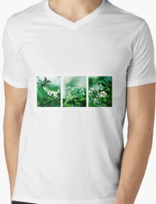 Collage White Cherry Blossoms T-Shirt