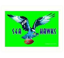 Seattle Seahawks v. Patriots Art Print