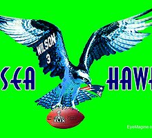 Seattle Seahawks v. Patriots by EyeMagined