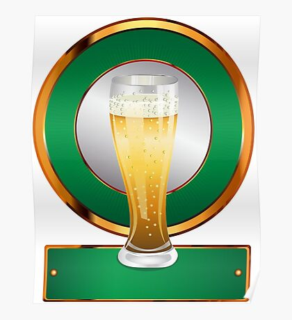 Glass of beer 2 Poster