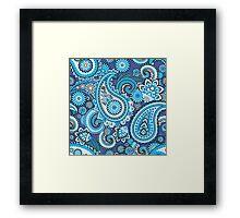 Blue paisley Framed Print