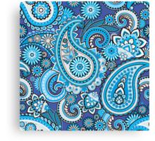 Blue paisley Canvas Print