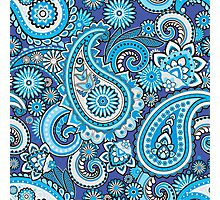 Blue paisley Photographic Print