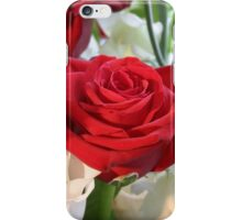 Red Rose with Garden Background iPhone Case/Skin