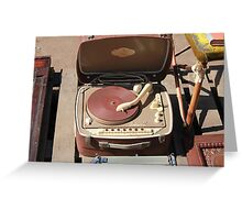 Retro portable turntable Greeting Card