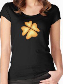 orange heart flower Women's Fitted Scoop T-Shirt