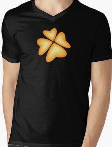 orange heart flower Mens V-Neck T-Shirt