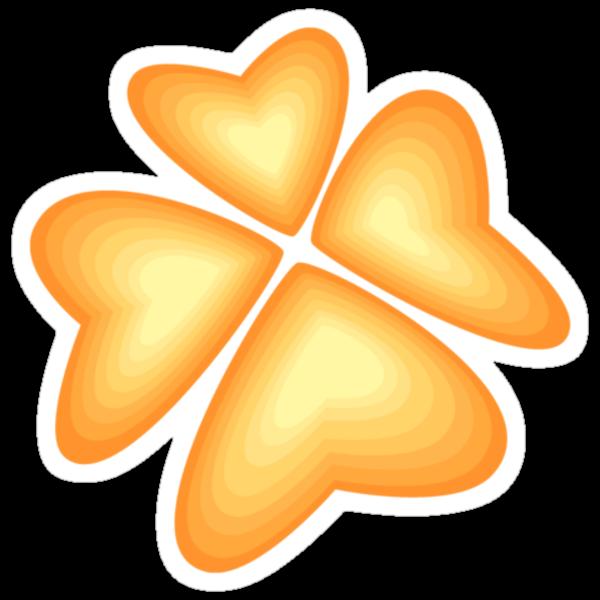 orange heart flower by VioDeSign