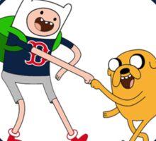 Boston red sox Adventure time Sticker