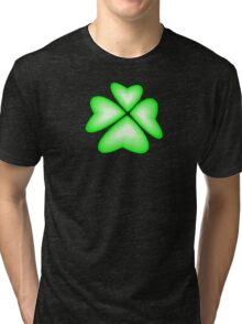 green heart flower Tri-blend T-Shirt
