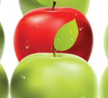 Red apple among green apples Sticker
