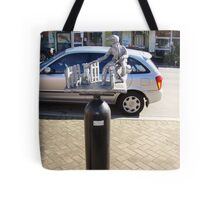 """the Postie"" -  Deloraine oxygen cylinder artwork Tote Bag"