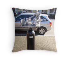 """""""the Postie"""" -  Deloraine oxygen cylinder artwork Throw Pillow"""