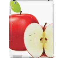 Red apple and half of apple iPad Case/Skin