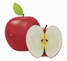 Red apple and half of apple Kids Clothes