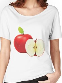 Red apple and half of apple Women's Relaxed Fit T-Shirt