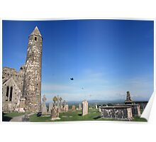 Rock of Cashel round tower Poster