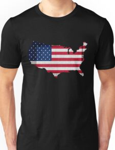 American Flag and Map Unisex T-Shirt
