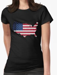 American Flag and Map T-Shirt