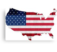 American Flag Map Canvas Print