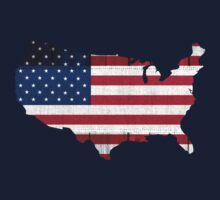 American Flag Map Kids Clothes