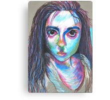 Oil Pastel Portrait Canvas Print