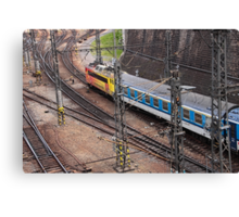 Trains and Tracks. Canvas Print