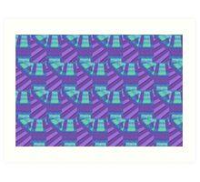 Purple Tie Art Print