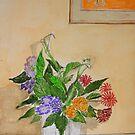 ( Watercolour )  Flower arrangement  by Irene  Burdell