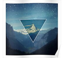 Mountain Hipster Poster