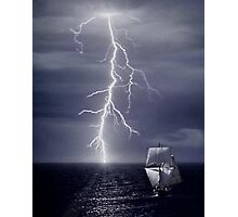 Escaping from Storm Photographic Print