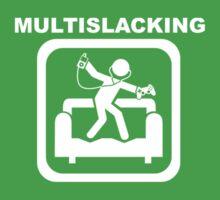 Multislacking - White Baby Tee
