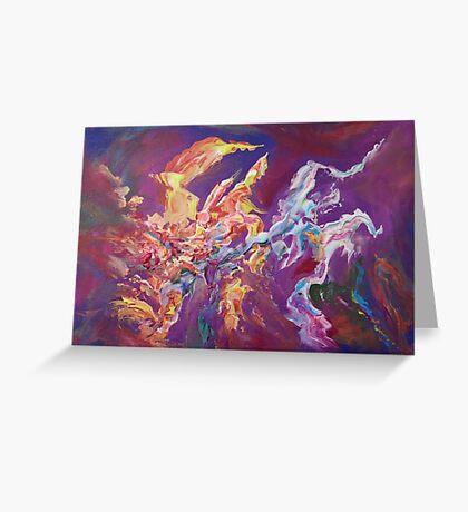 """Turbulence"" original abstract artwork by Laura Tozer Greeting Card"