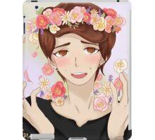 Dan with flower crown iPad Case/Skin