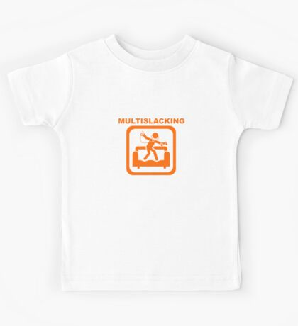 Multislacking - Orange Kids Tee