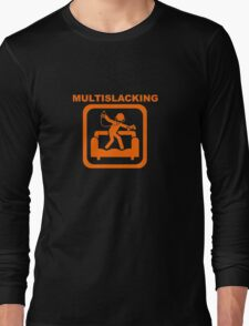 Multislacking - Orange Long Sleeve T-Shirt