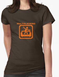 Multislacking - Orange Womens Fitted T-Shirt