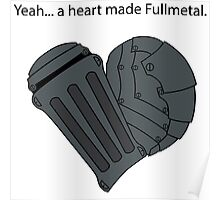 Fullmetal Heart & Quote Poster