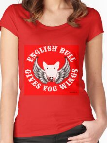 English Bull - Gives you Wings! Women's Fitted Scoop T-Shirt
