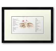 Jesus Eyes Framed Print