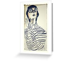 mod woman #2 Greeting Card