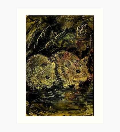 Two Hamsters Art Print