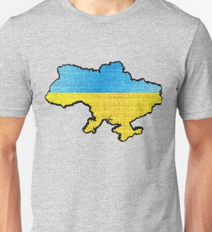 Ukraine Flag Map Unisex T-Shirt
