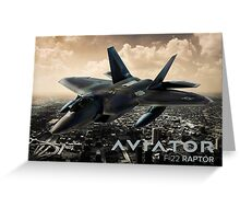 F-22 Raptor Fighter Jet Greeting Card