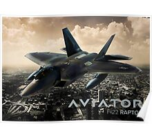 F-22 Raptor Fighter Jet Poster