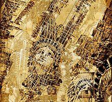 Manhattan map antique by BekimART