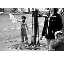 "Collector, On the Way to M.Cartier Bresson "" Careless passers and dangerous game boy !  "" Paris 1975 15 (b&n)(t) by Olao-Olavia par Okaio Création  Photographic Print"