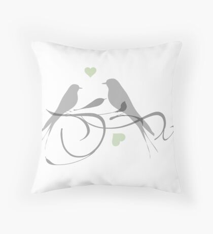 Love Tweets Throw Pillow