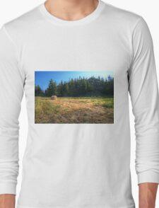 Glacier National Park Lake, Mountains, Hay Long Sleeve T-Shirt