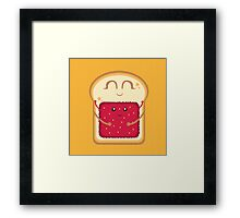 Hug the Strawberry Framed Print